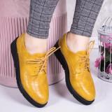 Pantofi dama casual galbeni Velisela