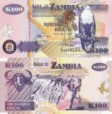 ZAMBIA 100 kwacha 1992 UNC!!!