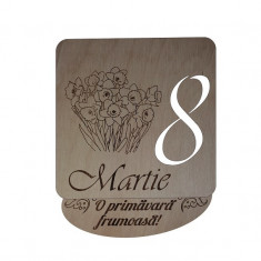 Decoratiune 8 Martie, Lemn, 15cm