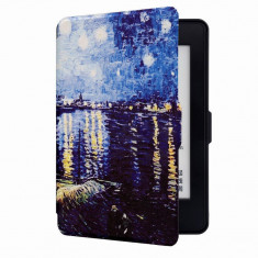 Husa Smart Amazon Kindle Paperwhite 1 2 3 + folie protectie display + stylus