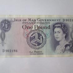 Cumpara ieftin Insula Man 1 Pound 1972 semnatura P.H.G.Stallard
