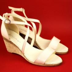 Sandale dama din piele naturala bej - Made in Romania S7BEJ