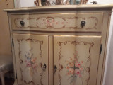 Comoda vintage/antica baroc venetian,mobila pictata manual, Comode si bufete, 1900 - 1949