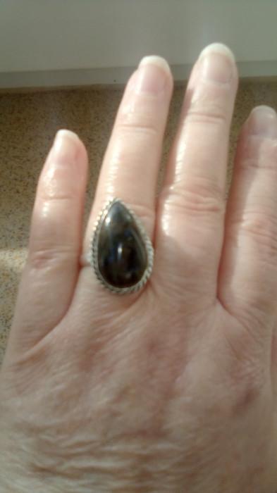 inel argint overlay labradorit marime 7.5