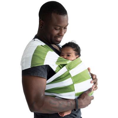 Sistem Purtare Baby K'tan Baby Carrier Print - Olive Stripe - Marimea M foto