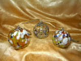 Set bile globuri sticla Murano, colectie, cadou, vintage
