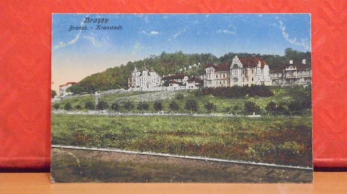BRASOV - VEDERE DIN AFARA - EDITATA INAINTE DE 1918, MODIFICATA DUPA -