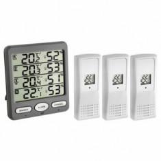 Termo-Higrometru cu 3 senzori wireless TFA 30.3054.10