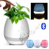 Ghiveci de Flori Muzical si Luminos cu Boxa Bluetooth si Senzor Touch