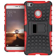 Husa Iberry Armor KickStand Negru cu Rosu Pentru Huawei P9 Lite 2016