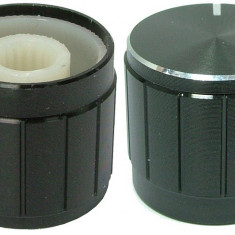 Buton pentru potentiometru, 19mm, aluminiu, 19x17mm - 127528