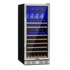 Klarstein Vinovilla 116D, frigider pentru vin cu capacitate mare, 313l, 116 sticle, oțel inoxidabil