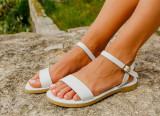 Cumpara ieftin Sandale Dama Grecesti Callia Albe