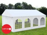 4x8m Cort PROFESSIONAL Plus PVC ignifug 550 g/m² alb