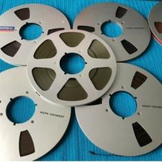 Benzi magnetofon AMPEX,AGFA, BASF, SCOTCH,rola metalica 26/SILVER-NAB(Akai,REVOX