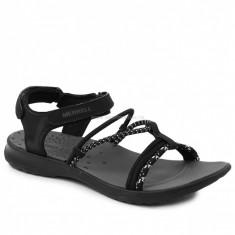 Sandale Femei casual Piele Merrell SUNSTONE STRAP, 36 - 41, Negru