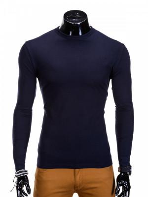 Bluza pentru barbati, din bumbac, bleumarin, simpla, slim fit - L59 foto