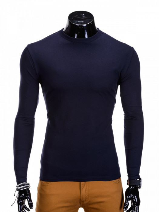 Bluza pentru barbati, din bumbac, bleumarin, simpla, slim fit - L59