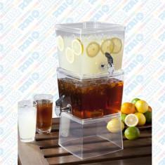 Dispenser pentru suc, două compartimente, Heinner, 5.6 litri/recipient