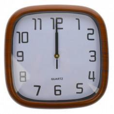 Ceas de perete, maro, 28 x 28 cm, patrat - CEAS02