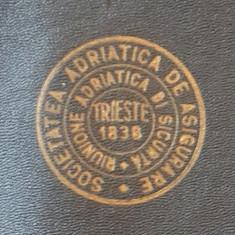 Mapa polita de asigurare interbelica - plic - Soc. Adriatica