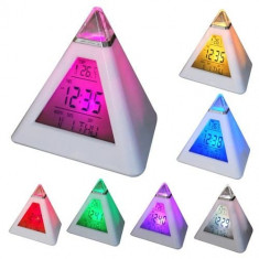 Ceas piramida cu 7 culori