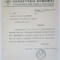 Cumpara ieftin Rara!Felicitare Anul Nou antetCercetașele Romaniei semnatura olografă comandantă