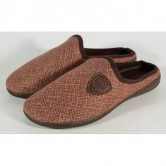 Papuci de casa maro din plus - 11998