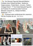 """Statuetă Figurină Bibelou Porțelan Arpo """" Căluț de Mare Seahorse Acvariu Pește """""""