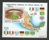 TSV$ - 1986 LP 1158 TURNEUL FINAL C.M. FOTBAL, MEXIC, COLITA NEDANTELATA MNH/**, Nestampilat