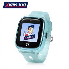 Ceas Smartwatch Pentru Copii Xkids X10 cu Functie Telefon, Localizare GPS, Apel monitorizare, Camera, Pedometru, SOS, IP54, Incarcare magnetica - Turc