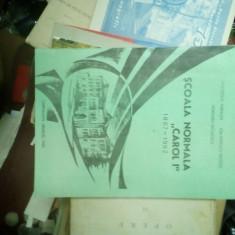 Școala Normală Carol 1 - monografie 1867- 1992 Câmpulung - Muscel