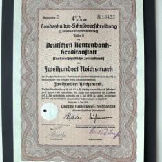 Titlu De Stat Obligatiune Germania-1939-200-Reichsmark