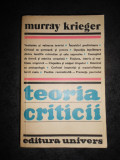 MURRAY KRIEGER - TEORIA CRITICII