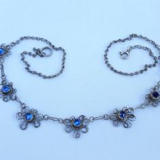 COLIER argint TRIBAL in filigran VECHI manopera EXCEPTIONALA elegant FINUT rar