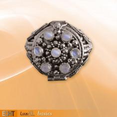 Inel Poison Ring cu piatra lunii R167M