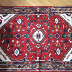 covor mic persan autentic, Qom, 125x195 cm, manual, lana, vintage
