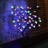 Lampa decorativa tip pom iluminat cu 48 LED-uri RGB, inaltime 45cm, multicolor