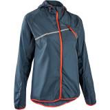 Jachetă Protecție Vânt Alergare Trail Running Gri Damă
