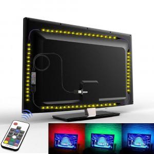 Kit Banda LED SMART4 TV 40-60 pentru Iluminare Ambientala Fundal RGB in Spatele Televizorului Backlight cu Telecomanda