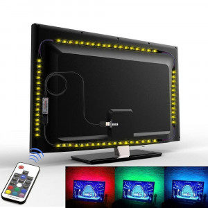 Kit Banda LED SMART4 TV 24-39 pentru Iluminare Ambientala Fundal RGB in Spatele Televizorului Backlight cu Telecomanda