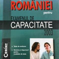 Geografia Romaniei pentru examenul de capacitate, Corint, 2003