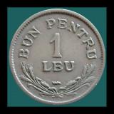 """ROMANIA KM#46 - 1 Leu 1924 - """"CU SEMN"""""""