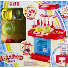 Bucatarie pentru copii cu cos de cumparaturi si accesorii