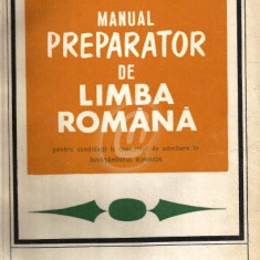 Manual preparator de limba romana pentru candidatii la concursul de admitere in invatamantul superior