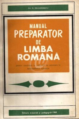 Manual preparator de limba romana pentru candidatii la concursul de admitere in invatamantul superior foto