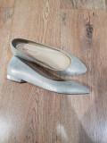 Pantofi/Balerini dama noi piele naturala auriu superbi 37,5/38