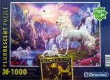 Cumpara ieftin Puzzle Clementoni Fosforescent - Glows in the Dark - Unicorn - Seara devreme - 1000 de piese