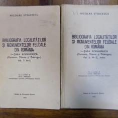 Bibliografia localitatilor si monumentelor feudale din Romania, I Tara Romaneasca vol. 1-2, 1970