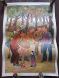 Afis scolar Baietelul din hartie Mircea Santimbreanu perioada comunista didactic